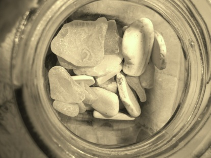 Jar of stones. Photo credit: Alison Johnson.