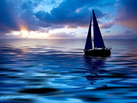 sailing_boat_at_sunset_3d_boats_wallpaper-normal